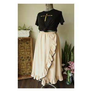 Vtg Prairie Maxi Skirt